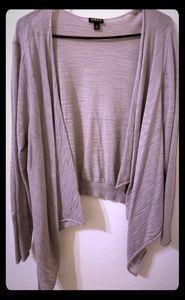 torrid Tops - Torrid size 2 grey shawl wrap EUC